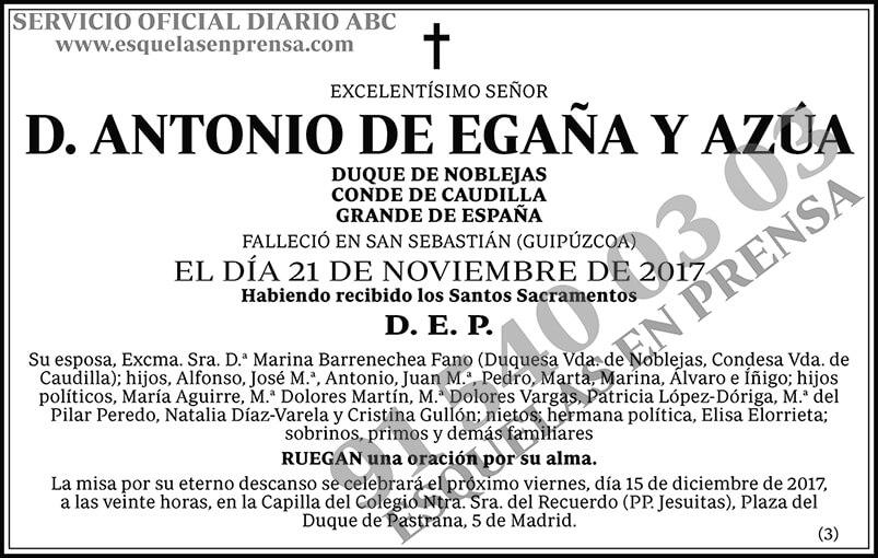 Antonio de Egaña y Azúa